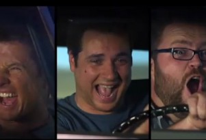 Top Gear USA hosts mug during &quot;Donut&quot; trailer