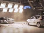 1998 and 2015 Toyota Corolla crash test