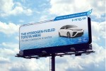 Toyota Mirai billboards scrub nitrogen oxides while touting hydrogen fuel-cell sedan