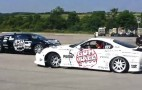 Toyota Supra Drifts Just Feet From Bugatti Veyron At Gumball 3000: Video