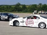 Toyota Supra drifts around Bugatti Veyron at Gumball 3000