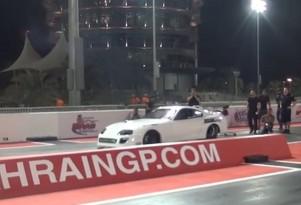 Toyota Supra runs the quarter mile in 6.05 seconds at 240 mph