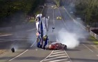 Davidsons Toyota Flips In The Air During Le Mans Crash: Video