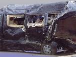 Tracy Morgan's crashed Sprinter van