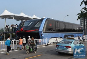 Transit Elevated Bus (TEB) - Image via China Xinhua News