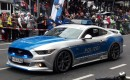 Tune it! Safe! 2017 Ford Mustang GT police car at 2017 Cologne Carnival parade