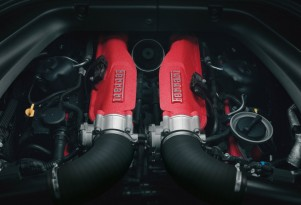 Turbocharged engine of the Ferrari California T