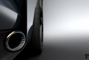 TVR side exhaust pipe teaser