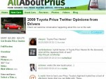 Twitter feed integrated into AllAboutPrius.com