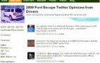 Our Latest Feature: Live Tweets About Green Cars