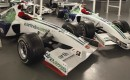 Two of the Honda F1 cars that will be sold at auction