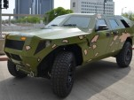 U.S. Army Fuel Efficient Demonstrator (FED) Bravo concept diesel hybrid-electric vehicle, April 2012