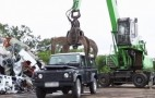 U.S. Customs Crush Illegally-Imported Land Rover Defender: Video