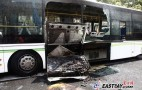 Chinese Electric Bus Catches Fire On Road, Not The First One
