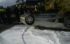 Lamborghini Murcielago Roadster Crashes, Ends Up On Its Roof