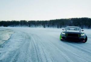 Vaughn Gittin Jr Ice Drifting Mustang