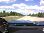 View from the cockpit of a 1,500-horsepower C6 from High Tech Corvette