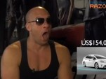 Vin Diesel reacts to Singapore Prius pricing... (RazorTV screen grab)