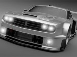 Vizualtech Dodge Challenger GT3 race car rendering