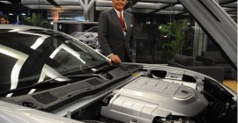 VL Automotive Destino with Bob Lutz at 2013 Detroit Auto Show