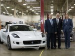 From left to right: Gilbert Villarreal, Bob Lutz, Henrik Fisker