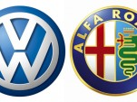 Volkswagen, Alfa Romeo logos