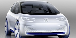 Volkswagen I.D. electric car concept, 2016 Paris auto show