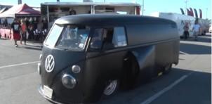 1963 VW Bus with bib-block Chevy V-8