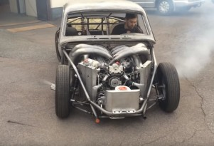 Volvo Amazon Fitted With A 2-Stroke Marine V-8 Engine