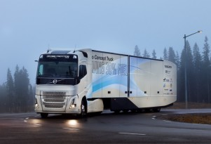 Volvo concept truck made more frugal with hybrid powertrain