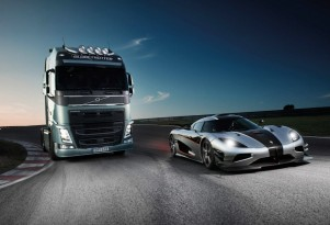 Volvo FH and the Koenigsegg One:1