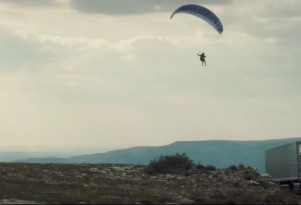 Volvo Truck tows paraglider in latest video stunt