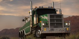 Western Star 4900 SF serving as vehicle mode for Onslaught in 'Transformers: The Last Knight'