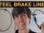 What's the difference between steel and rubber brake lines?