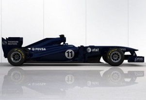 Williams Cosworth FW33 2011 F1 race car in interim livery