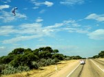 Wind Explorer wind- and electric-powered car crossing Australia