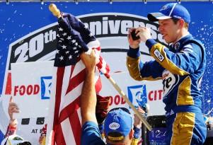 Winner Brad Keselowski snaps pics in Victory Lane - NASCAR photo