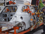Workers assemble a Fiat 500 in Toluca, Mexico