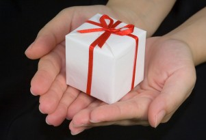 Wrapped gift  Image: Flickr user asenat29