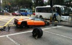 Pagani Zonda F Crashes In Hong Kong
