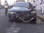 Wreckage of BMW M3 driven by Usain Bolt - Image courtesy Go-Jamaica