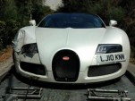 Wreckage of Bugatti Veyron Grand Sport Sang Blanc - Image courtesy of Rob Van Loock Photography