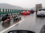 Wreckage of Ferrari 458 Spider and California - Image courtesy of 163.com