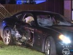 Wreckage of Ferrari 612 Scaglietti driven by 25-year-old