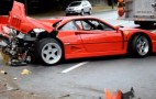 Ferrari F40 Crashes In The Wet In Vancouver: Video