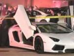 Wreckage of Lamborghini Aventador LP 700-4 that crashed in Houston