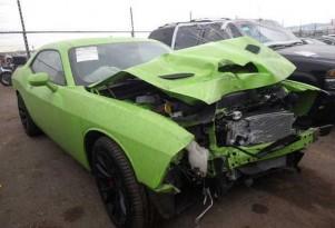 Wrecked 2015 Dodge Challenger SRT Hellcat - Image via Insurance Auto Auctions