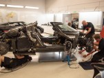 Wrecked Koenigsegg One:1 being analyzed at factory in Ängelholm, Sweden
