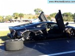 Wrecked Lamborghini Aventador LP 700-4, image via TrafficTicketForum and WreckedExotics