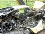 Wrecked Lamborghini Murcielago LP640 in Russia